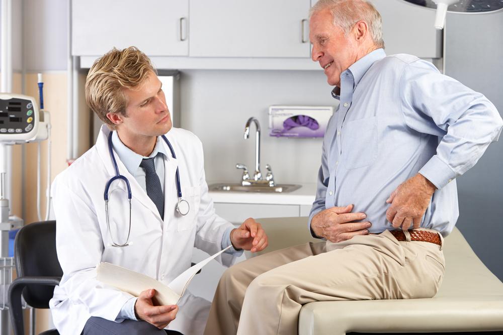 Обострение остеохондроза -.поясничного, грудного отдела,