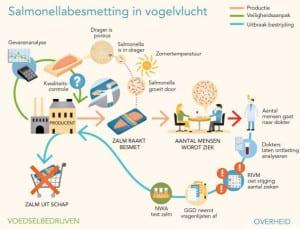Salmonella besmetting in vogelvlucht - Bron OvV