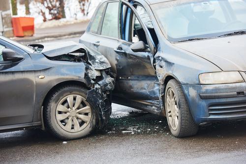 Schade na een verkeersongeval