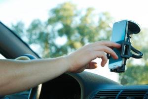 smartphone in houder