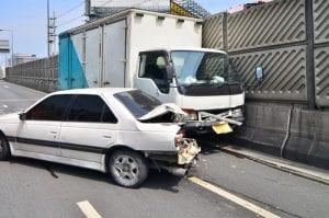 Ongeluk met vrachtwagen