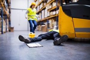 Bedrijfsongeval in de industrie